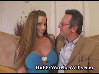 Busty Wife Fucks Coed For Hubby