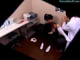 Schoolgirl Fingered Sucking Cock Fucked By The Doctor...