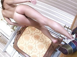 Youthful nubile Anina showers her pussy and rubs it - Teen sex video -