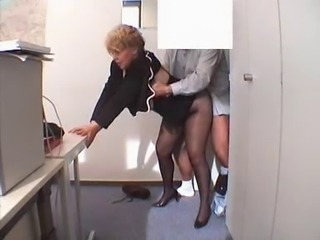 Doggystyle Hardcore Mature Office Pantyhose