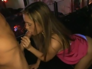 Amazing Blowjob CFNM Long hair Party Teen