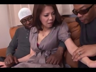 Cuckold Interracial Japanese Threesome Wife