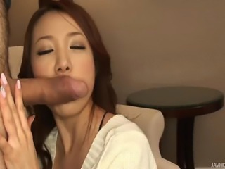 Playful and little bit dirty Asian lady displaying and teasing with her fine...
