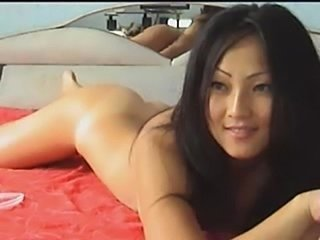 Korean cleaning her fingers after masturbation  free