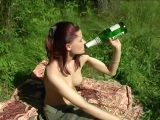 Family picnic. Have fucked a step sister, while preparing a barbecue. free