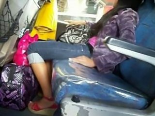 Cute Filipina Pinay Candid Bus Boso High heels