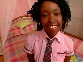 Cute Ebony School Teen Uniform