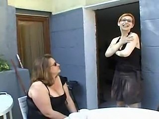 Amateur BBW Daughter Family Glasses Mature Mom Old and Young Wife