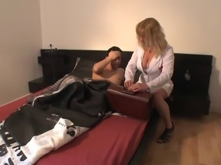 Big Tits European French Mature Nurse Old and Young Uniform
