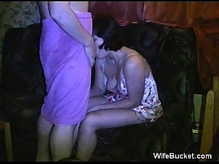 Wife fucked before party