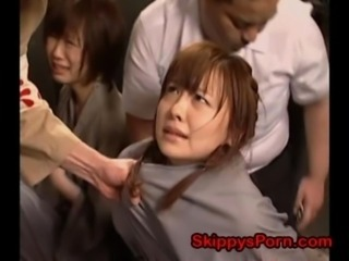 Young Japanese prisoner fisted free