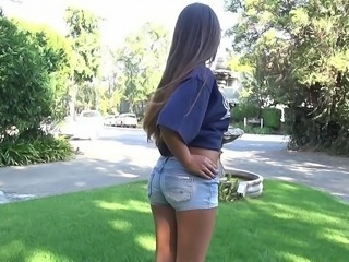 Ass Babe Jeans Outdoor Pornstar