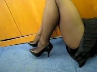 Legs MILF Office Pantyhose