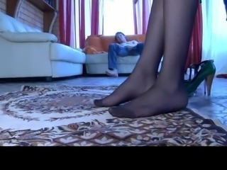 Compilation of Katrine, Sabrina, Laura by Nylon Feet Videos