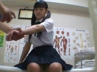 Asian Doctor Japanese Pigtail Skirt Student Teen Uniform