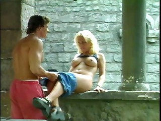 Big Tits Blonde Flexible Hardcore MILF Outdoor