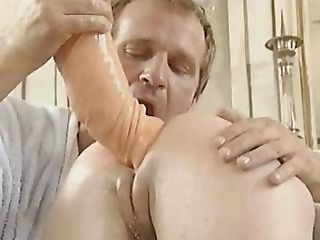 Ass Dildo Doctor German MILF Pussy Shaved Uniform