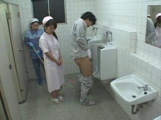 Asian Japanese Teen Threesome Toilet Uniform