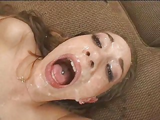 creaming girl gets banged hard bukkake
