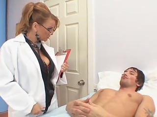 Big Tits Doctor Glasses MILF Pornstar Uniform