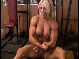 Big Tits Blonde MILF Muscled