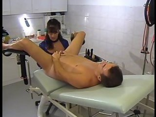 Aunt gives nephew rectal exam