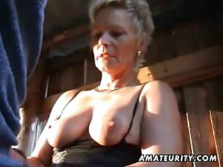 Of age lay wife sucks respecting an increment of fucks outdoor respecting facial cumshot