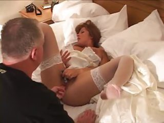 His sexy bride fucked in be passed on pussy away from black cocks