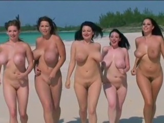 Babe Beach Big Tits Chubby Funny Lesbian Natural Nudist Outdoor