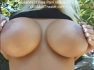 Big Tits Outdoor Silicone Tits
