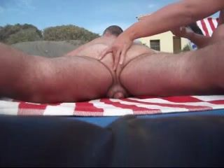 ass play on the beach