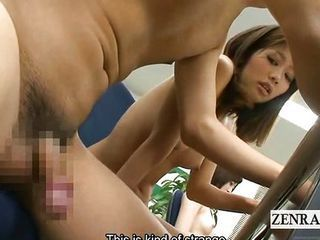 Subtitles Japanese nudist office handjob