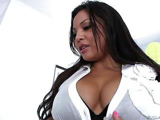 Adriana Luna Is A Super Sexy Stacked Latina Teacher In White Blouse, B...