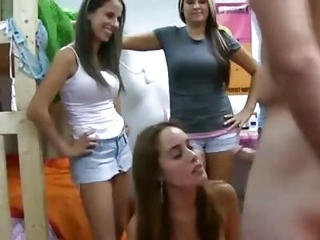 Amateur Sorority Girls Give Blowjobs In Public