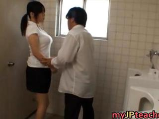 Asian Big Tits Japanese MILF Teacher Toilet