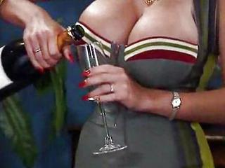 Big Tits Drunk MILF Party Silicone Tits Vintage