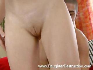 Cute Tiny Daughter Monster Assfucked