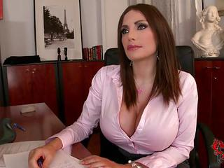 Clanddi Jinkcego Is A Sexy Big Breasted Office Woman That Looks Great...