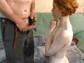 Daddy Daughter European French Old and Young Redhead Teen