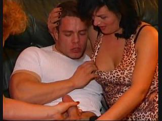 SEXY MATURE 18 matures with young men in party sex