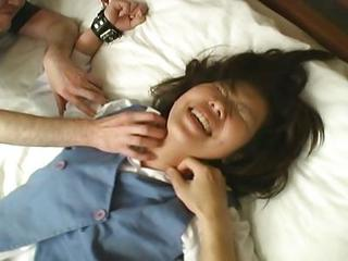 Asian Chick Punished In Bed