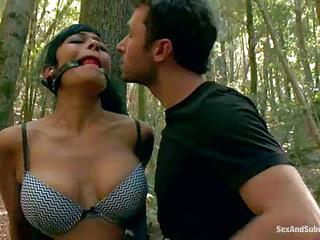 Beretta James And Chanel Preston Get Punished In The Woods By Angry La...