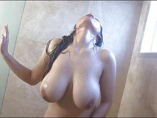 Slut Yurizan Beltran And A Hot,wet, And Steamy Shower Sex Scene.