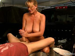 Kelly Madison Jerking Off Cock Before Sitting On It