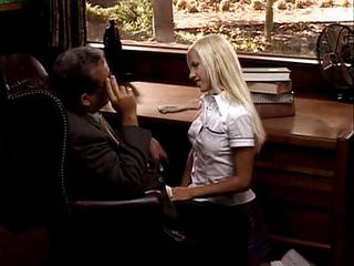 Blonde Office Old and Young Teen