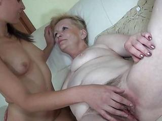 Young Honey Comes To Meet Horny Granny