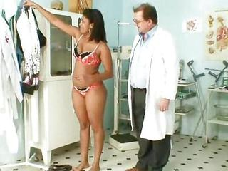 Doctor Ebony Interracial Lingerie MILF Old and Young