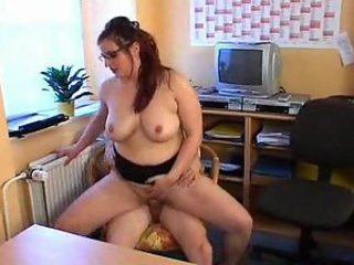 British girl in glasses has great sex