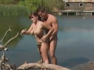 Outdoors Sex With The Busty Redhead Rebecca Love