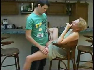 Slut smokes and lets the young man have her